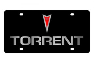 Eurosport Daytona® - Silver Torrent Logo on Black Steel License Plate