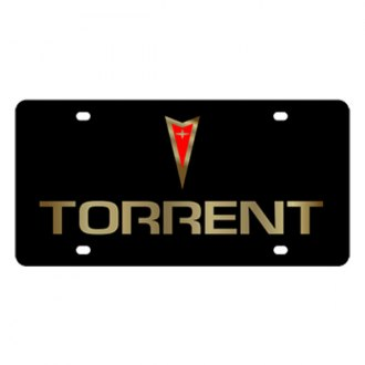 Eurosport Daytona® - GM Black License Plate with Gold Torrent Logo & Word