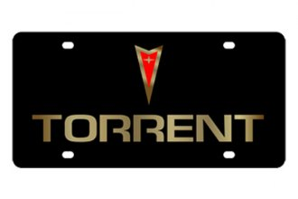 Eurosport Daytona® - Gold Torrent Logo on Black Steel License Plate