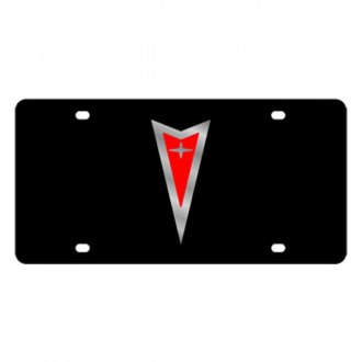 Eurosport Daytona® - GM Black License Plate with Silver Pontiac Logo