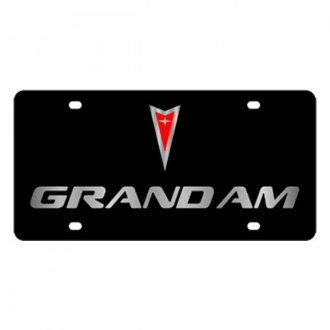 Eurosport Daytona® - GM Black License Plate with Silver Grand Am Logo