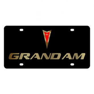 Eurosport Daytona® - GM Black License Plate with Gold Grand Am Logo