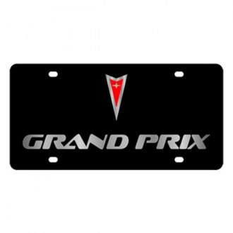 Eurosport Daytona® - GM Black License Plate with Silver Grand Prix Logo