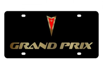 Eurosport Daytona® - GM Black License Plate with Gold Grand Prix Logo