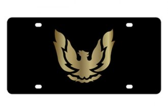 Eurosport Daytona® - GM Black License Plate with Gold Firebird Retro Logo