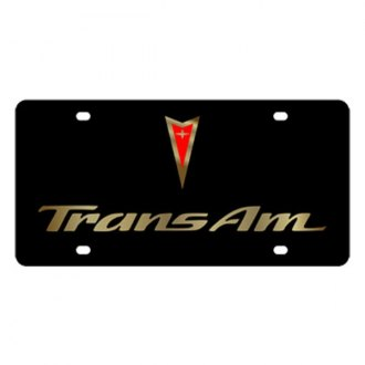 Eurosport Daytona® - GM Black License Plate with Gold Trans Am Logo