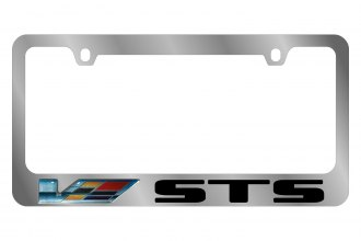 Eurosport Daytona® - GM License Plate Frame with Cadillac V-Series STS Logo