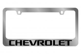 Eurosport Daytona® 5302WO-BK - GM License Plate Frame with Chevrolet Word Logo