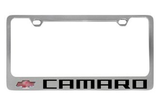 Eurosport Daytona® 5305NLW-BK - GM License Plate Frame with Chevrolet Camaro Logo