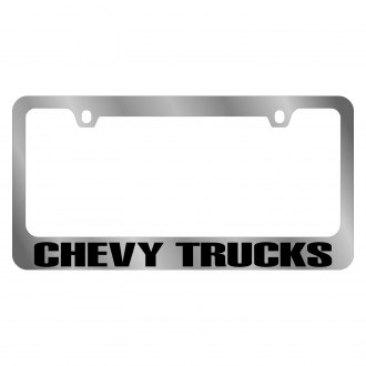 Eurosport Daytona® - GM Chrome License Plate Frame with Chevy Trucks Logo