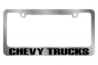 Eurosport Daytona® - GM License Plate Frame with Chevrolet Chevy Trucks Logo