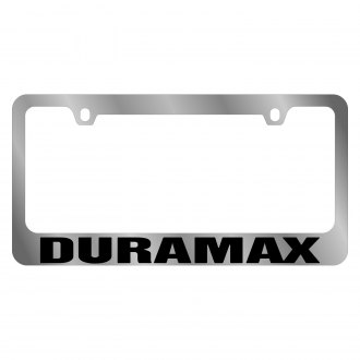 Eurosport Daytona® - GM Chrome License Plate Frame with Chevrolet Duramax Logo