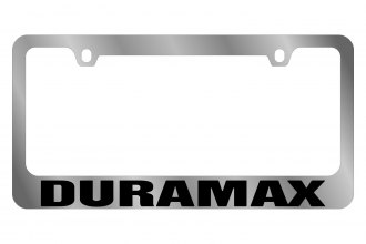 Eurosport Daytona® 5310WO-BK - GM License Plate Frame with Chevrolet Duramax Logo