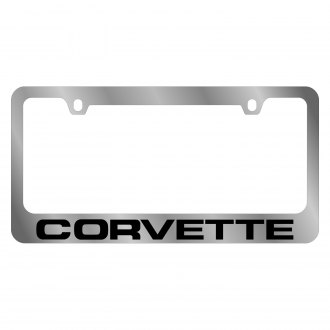 Eurosport Daytona® - GM Chrome License Plate Frame with Chevrolet Corvette C4 Logo