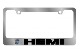 Eurosport Daytona® - MOPAR License Plate Frame with Dodge Hemi Logo