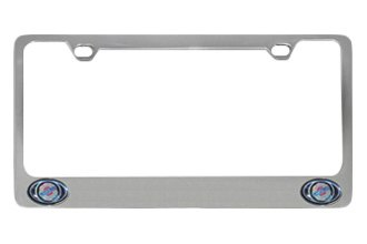 Eurosport Daytona® - Chrysler Dual Logos Logo on Chrome License Plate Frame