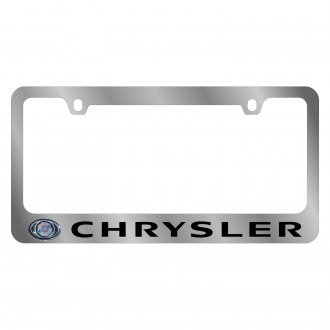 Eurosport Daytona® - MOPAR License Plate Frame with Chrysler Logo & Word