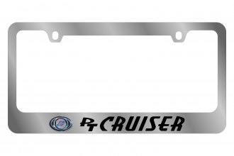 Eurosport Daytona® - Chrysler PT Cruiser Logo on Chrome License Plate Frame