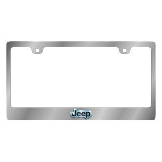 Eurosport Daytona® - MOPAR Chrome License Plate Frame with Jeep Emblem