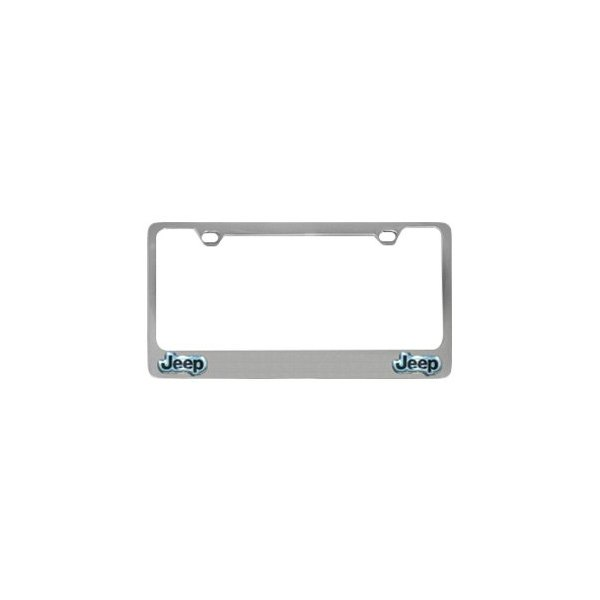 5418lo b mopar chrome license plate frame with jeep dual emblems. Cars Review. Best American Auto & Cars Review