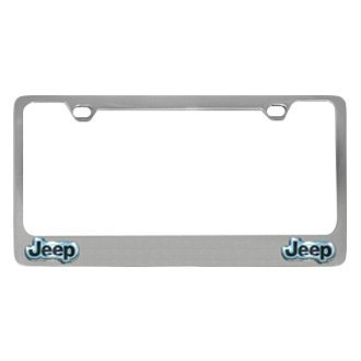 Eurosport Daytona® - MOPAR Chrome License Plate Frame with Jeep Dual Emblems