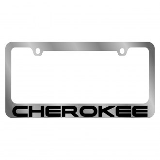 Eurosport Daytona® - MOPAR Chrome License Plate Frame with Cherokee Logo