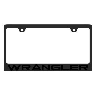 Eurosport Daytona® - MOPAR Black License Plate Frame with Wrangler Logo