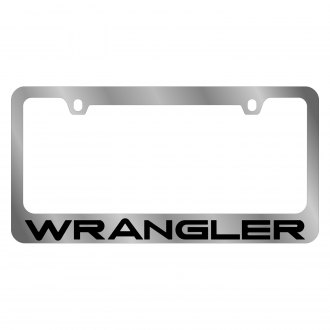 Eurosport Daytona® - MOPAR Chrome License Plate Frame with Wrangler Logo