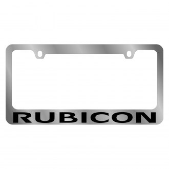 Eurosport Daytona® - MOPAR Chrome License Plate Frame with Rubicon Logo