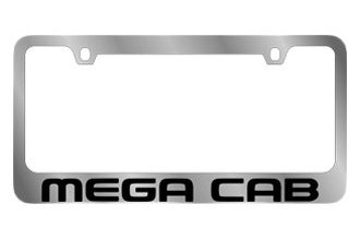 Eurosport Daytona® - MOPAR License Plate Frame with Dodge Mega Cab Logo