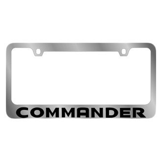 Eurosport Daytona® - MOPAR Chrome License Plate Frame with Commander Logo