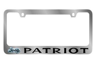 Eurosport Daytona® - Jeep Patriot Logo on Chrome License Plate Frame