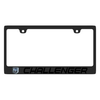 Eurosport Daytona® - Carbon Black Stainless Steel License Plate Frame Semi Universal