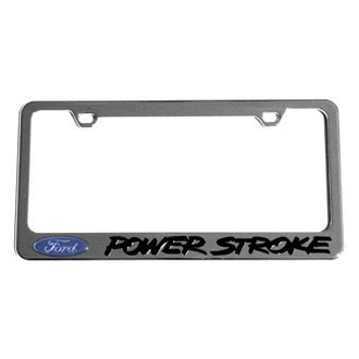 Eurosport Daytona® - Ford Motor Company License Plate Frame with Ford Power Stroke Logo