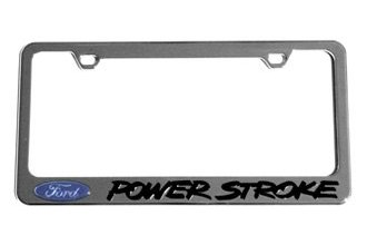 Eurosport Daytona® 5502LW-BK - Ford Motor Company License Plate Frame with Ford Power Stroke Logo