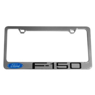 Eurosport Daytona® - Ford Motor Company Chrome License Plate Frame with F-150 Badge Logo and Ford Emblem