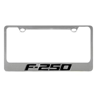 Eurosport Daytona® - Ford Motor Company Chrome License Plate Frame with F-250 Badge New Logo