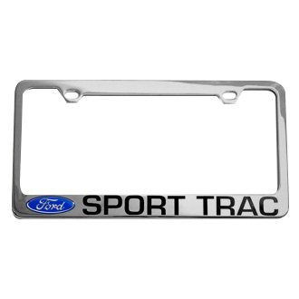 Eurosport Daytona® - Ford Motor Company Chrome License Plate Frame with Sport Trac Logo and Ford Emblem
