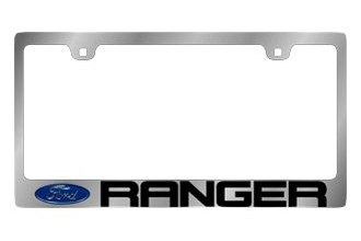 Eurosport Daytona® - Ford Ranger Logo on Chrome License Plate Frame