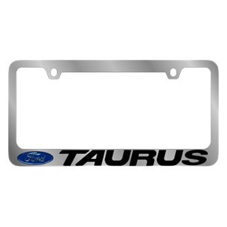Eurosport Daytona® - Ford Motor Company Chrome License Plate Frame with Taurus Logo and Ford Emblem
