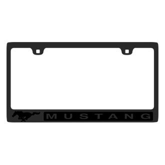 Eurosport Daytona® - Ford Motor Company Carbon Black License Plate Frame with Mustang Logo