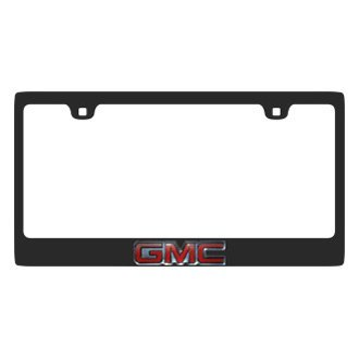 Eurosport Daytona® - GM Carbon Black License Plate Frame with GMC Logo