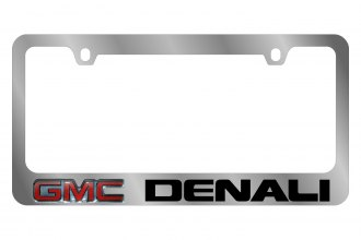 Eurosport Daytona® 5605LW-BK - GM License Plate Frame with Denali Logo & Word