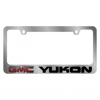 Eurosport Daytona® - GM Chrome License Plate Frame with Yukon Logo and GMC Emblem