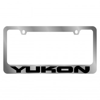 Eurosport Daytona® - GM Chrome License Plate Frame with Yukon Logo