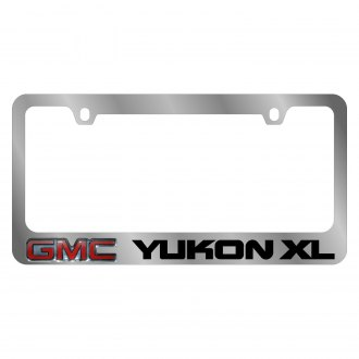 Eurosport Daytona® - GM Chrome License Plate Frame with Yukon XL Logo and GMC Emblem