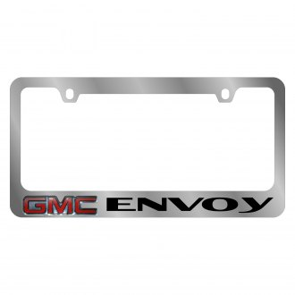 Eurosport Daytona® - GM Chrome License Plate Frame with Envoy Logo and GMC Emblem
