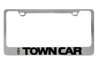 Eurosport Daytona® 5706LW-BK - Ford Motor Company License Plate Frame with Town Car Logo & Word
