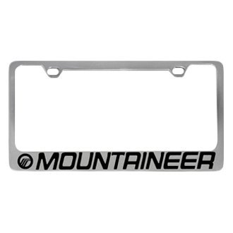 Eurosport Daytona® - Ford Motor Company Chrome License Plate Frame with Mountaineer Logo and Mercury Emblem