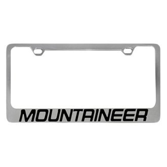 Eurosport Daytona® - Ford Motor Company Chrome License Plate Frame with Mountaineer Logo